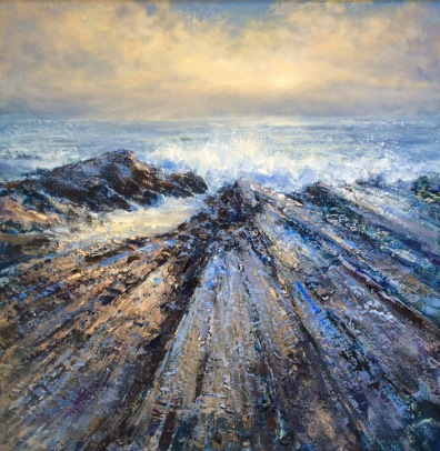 Rocky Coast, 60 x 60 cm, SOLD