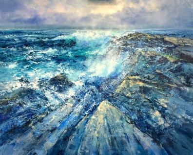 Ocean Surge, 80 x 80 cm / sold
