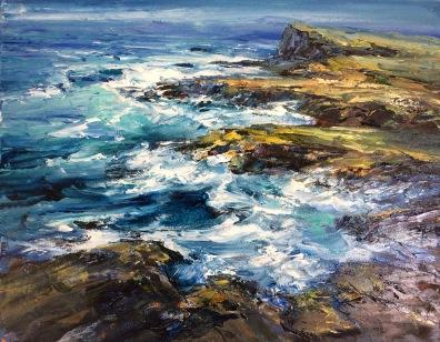 Coast of Clare, 50 x 60 cm / sold