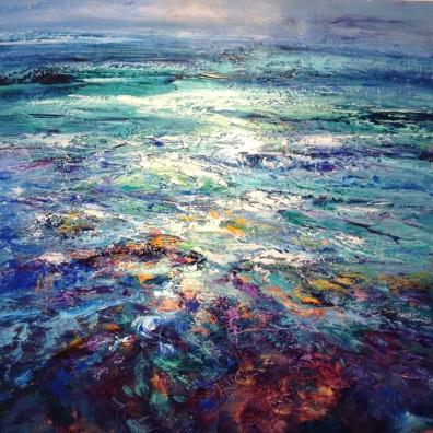 Distant Shore, 80 x 80 cm / sold