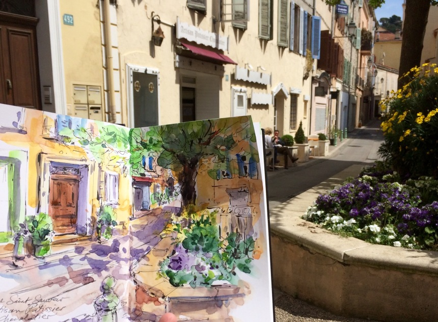Spring morning on Rue Saint Sauveur