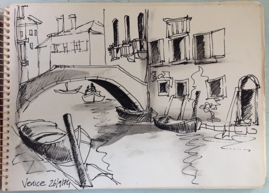 First sketchbook! Venice 1974, age 20