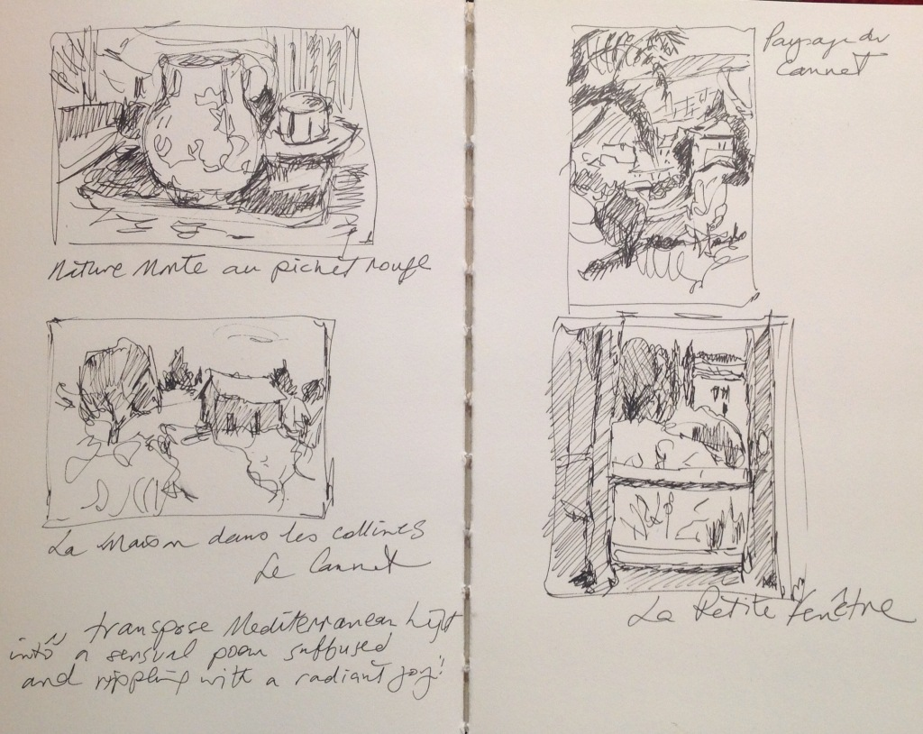 Sketches from Musée Bonnard