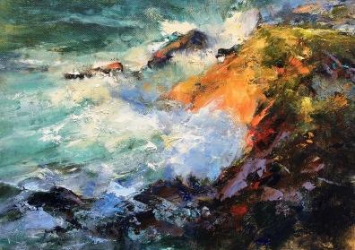 Last Light, Oil on Canvas, 30 x 40 cm / sold