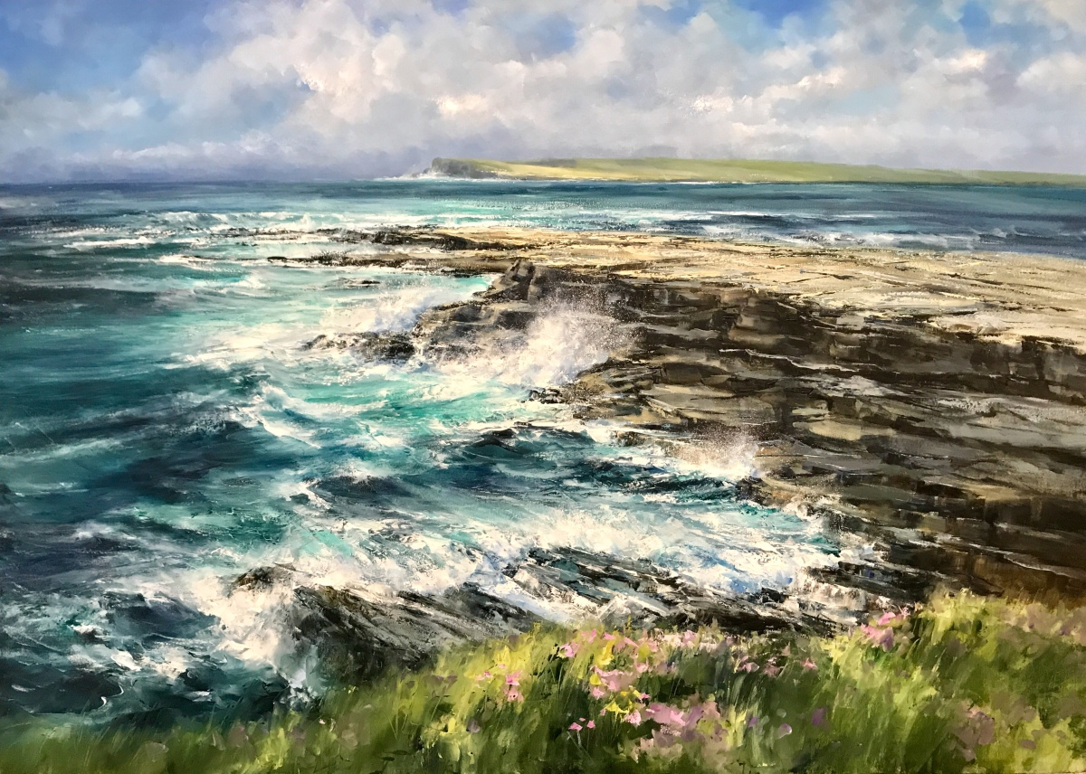 Coast of Clare, 100 x 140 cm. SOLD